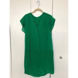 Madewell Broadway & Broome Green Silk Dress 12